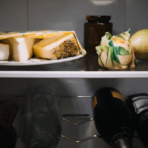 Bienenwachstücher im Kühlschrank