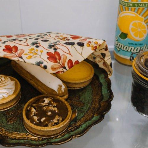Bienenwachstuch Beere XL_Kuchen